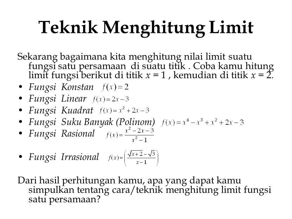 Teknik Menghitung Limit