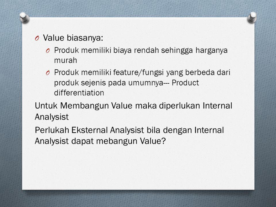 Untuk Membangun Value maka diperlukan Internal Analysist