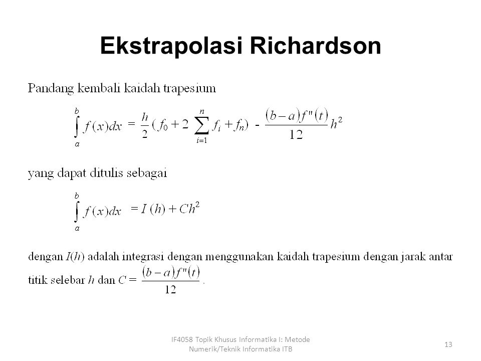 Ekstrapolasi Richardson