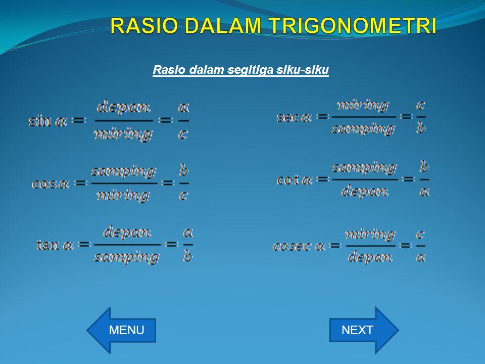 RASIO DALAM TRIGONOMETRI