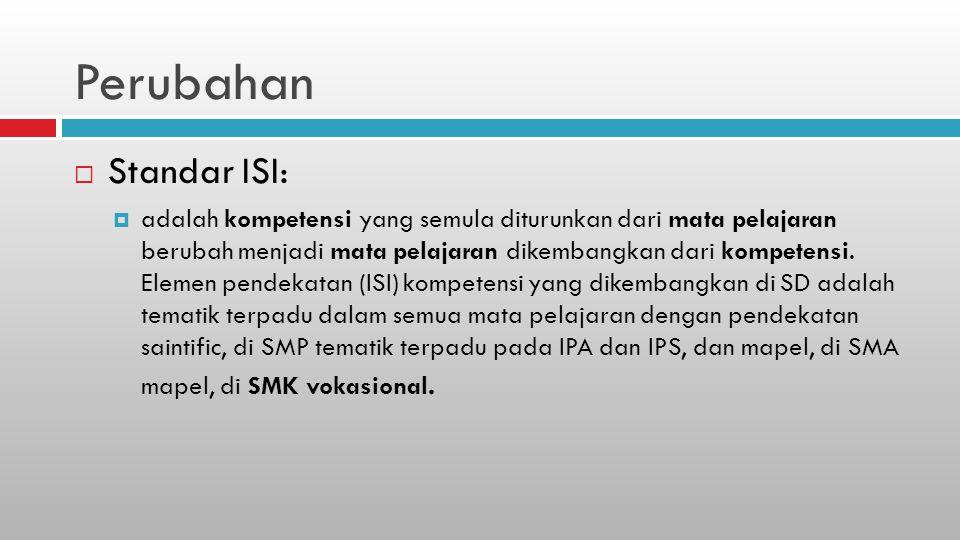 Perubahan Standar ISI: