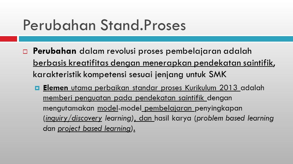 Perubahan Stand.Proses