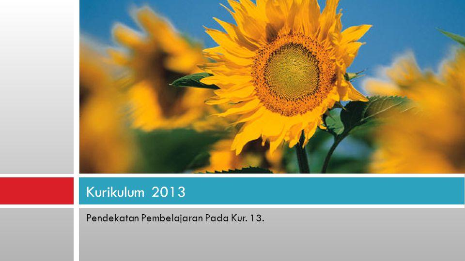 Kurikulum 2013 Pendekatan Pembelajaran Pada Kur. 13.