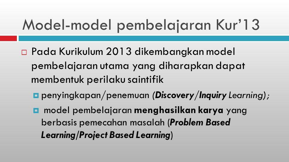 Model-model pembelajaran Kur'13