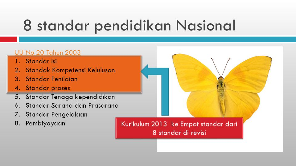8 standar pendidikan Nasional