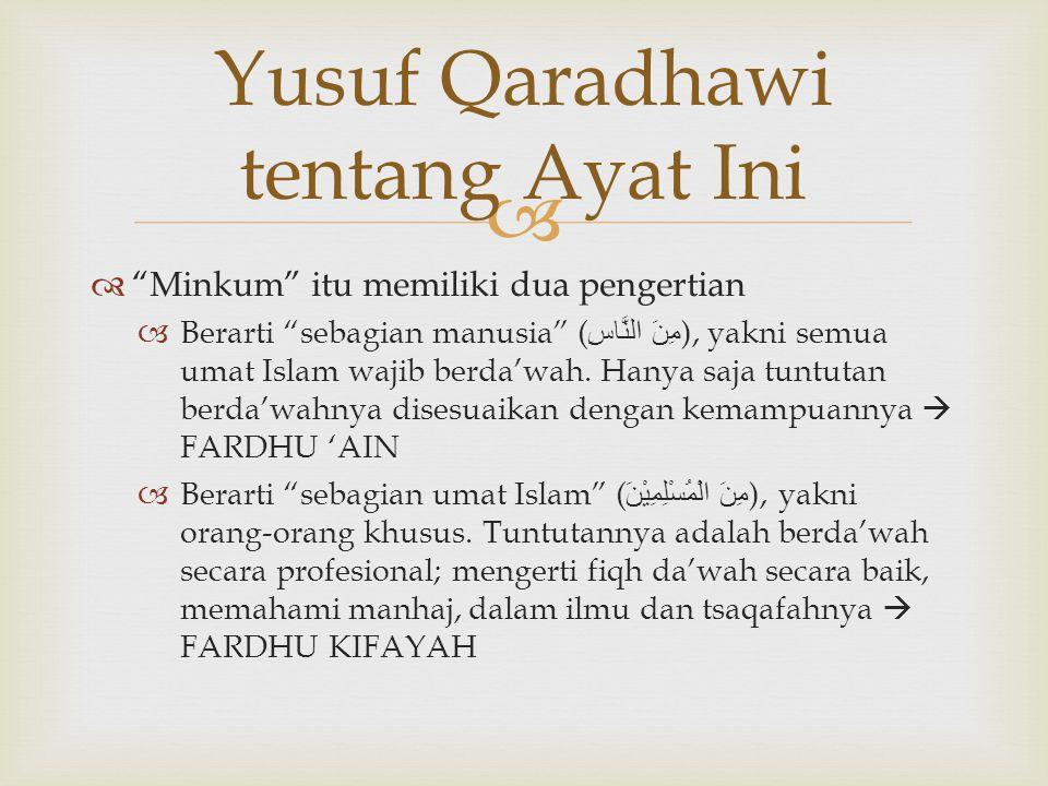 Yusuf Qaradhawi tentang Ayat Ini
