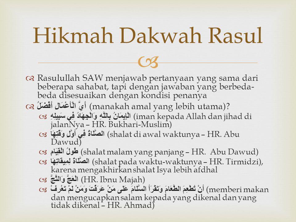 Hikmah Dakwah Rasul
