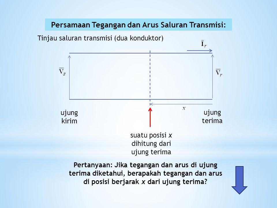 Persamaan Tegangan dan Arus Saluran Transmisi: