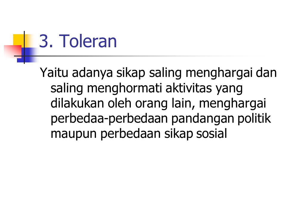 3. Toleran