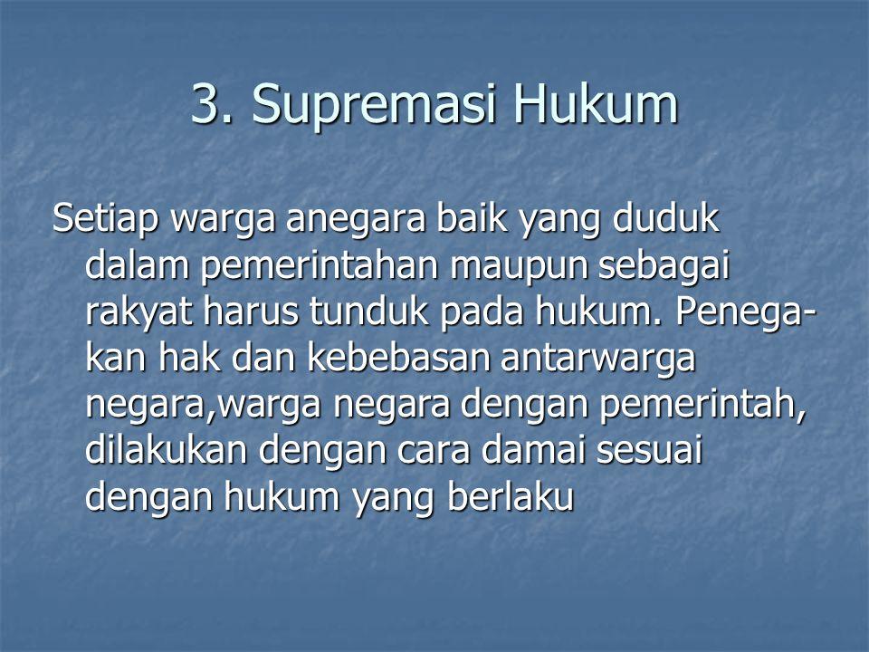 3. Supremasi Hukum