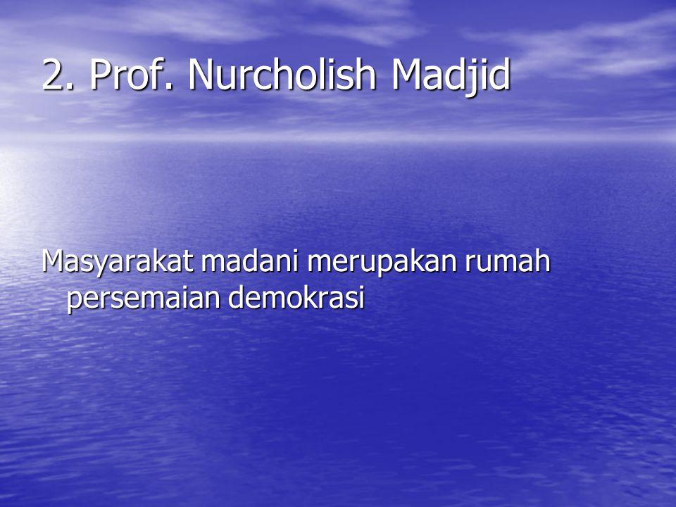 2. Prof. Nurcholish Madjid