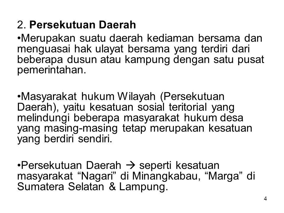2. Persekutuan Daerah
