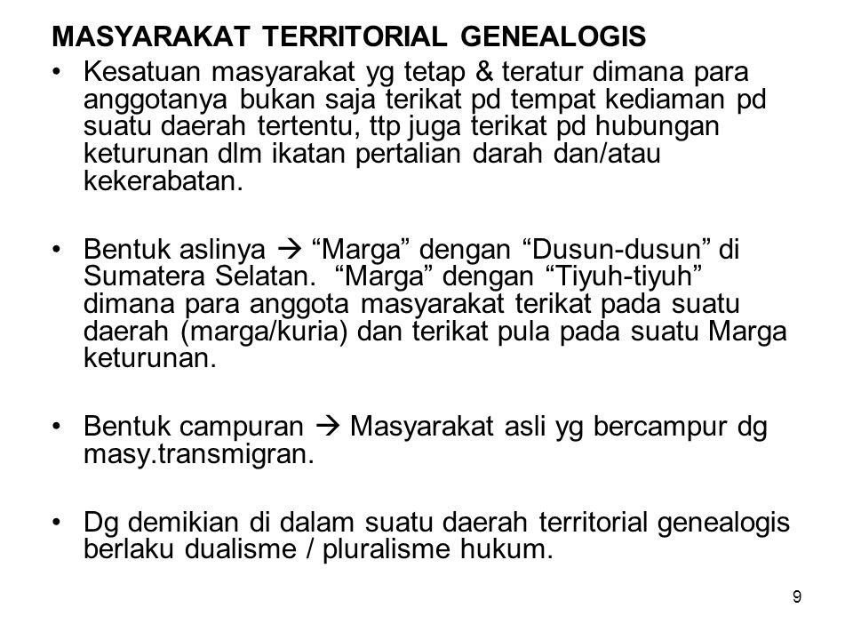 MASYARAKAT TERRITORIAL GENEALOGIS