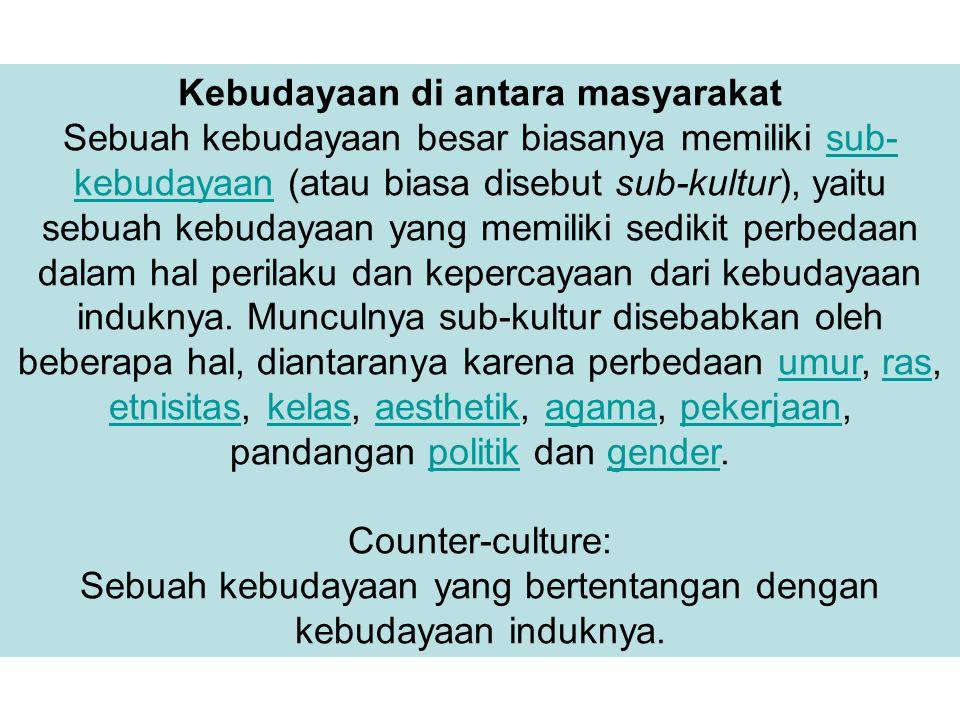 Kebudayaan di antara masyarakat
