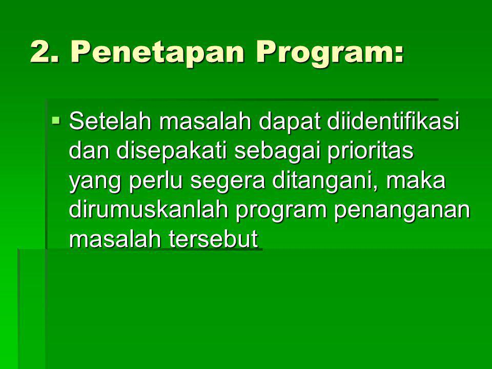 2. Penetapan Program: