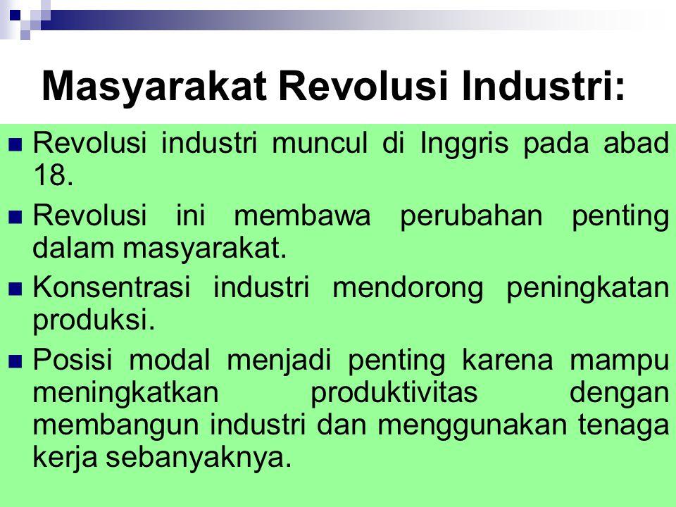 Masyarakat Revolusi Industri: