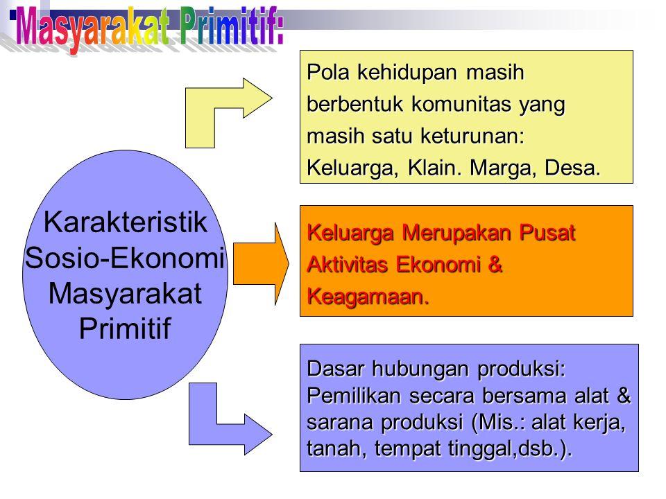 Masyarakat Primitif: Karakteristik Sosio-Ekonomi Masyarakat Primitif