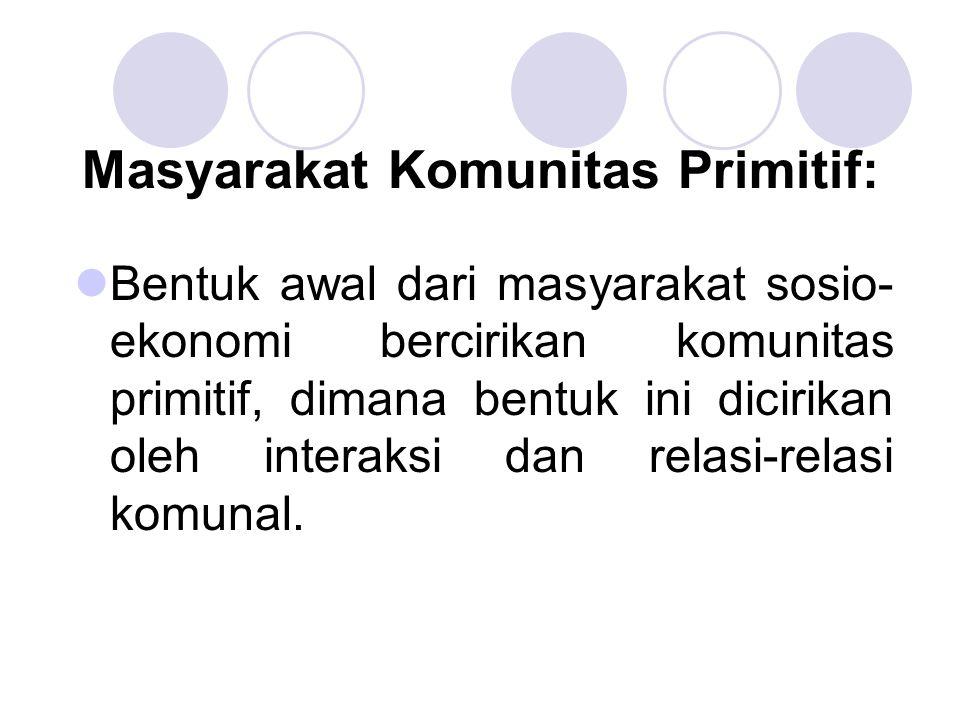 Masyarakat Komunitas Primitif: