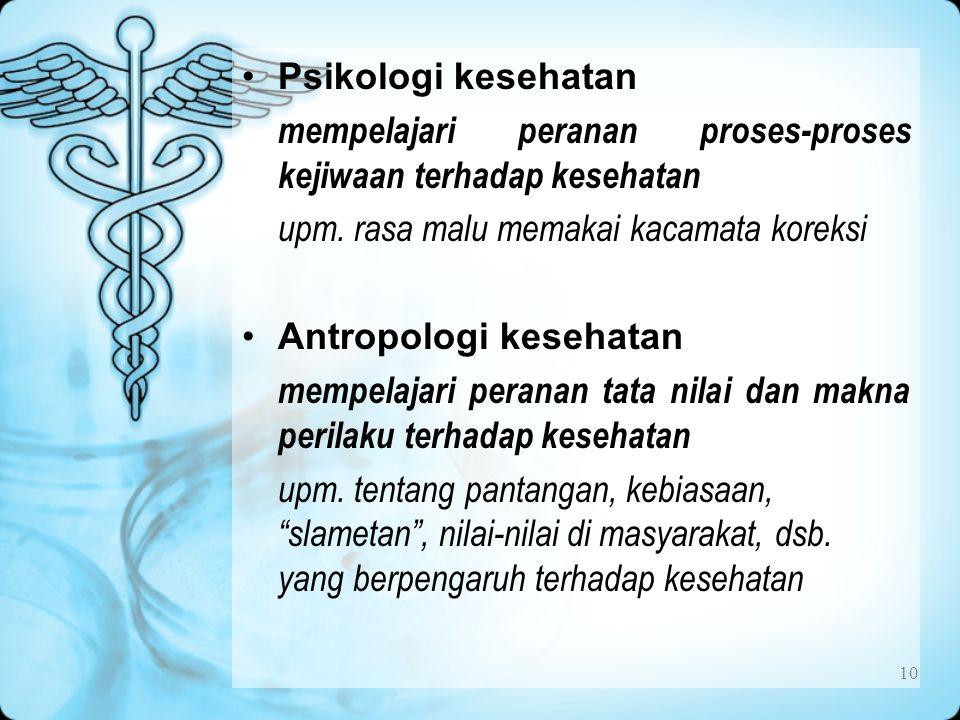 Psikologi kesehatan mempelajari peranan proses-proses kejiwaan terhadap kesehatan. upm. rasa malu memakai kacamata koreksi.
