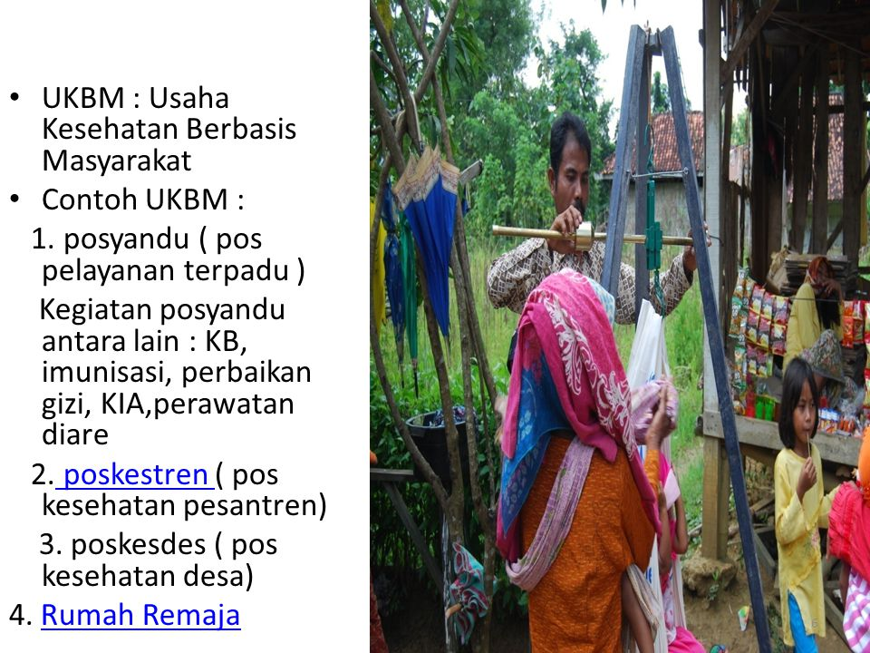 UKBM : Usaha Kesehatan Berbasis Masyarakat