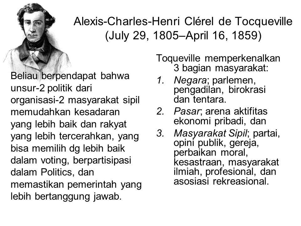 Alexis-Charles-Henri Clérel de Tocqueville (July 29, 1805–April 16, 1859)