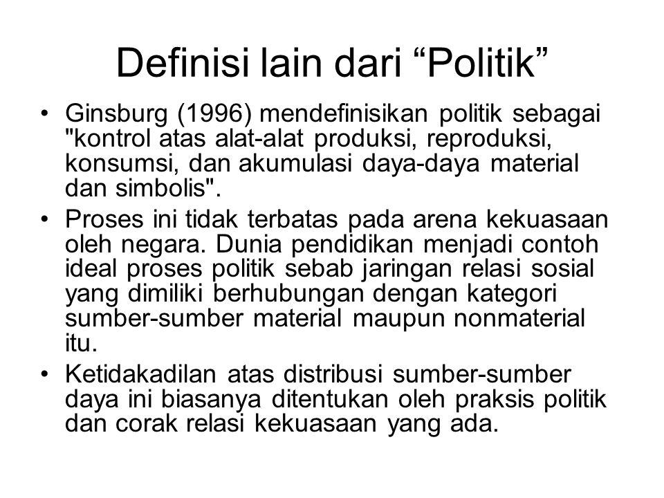 Definisi lain dari Politik
