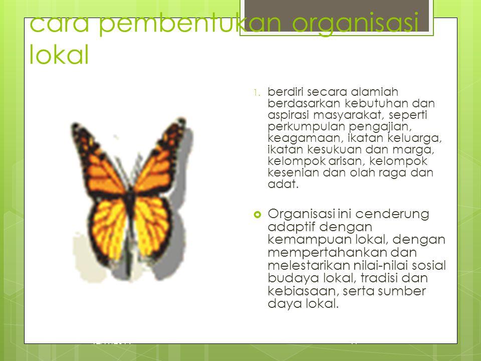 cara pembentukan organisasi lokal
