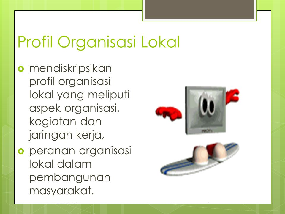 Profil Organisasi Lokal