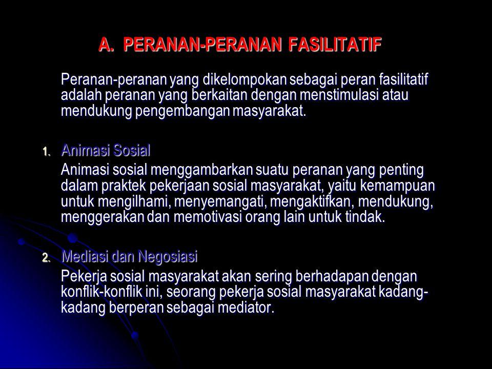 A. PERANAN-PERANAN FASILITATIF