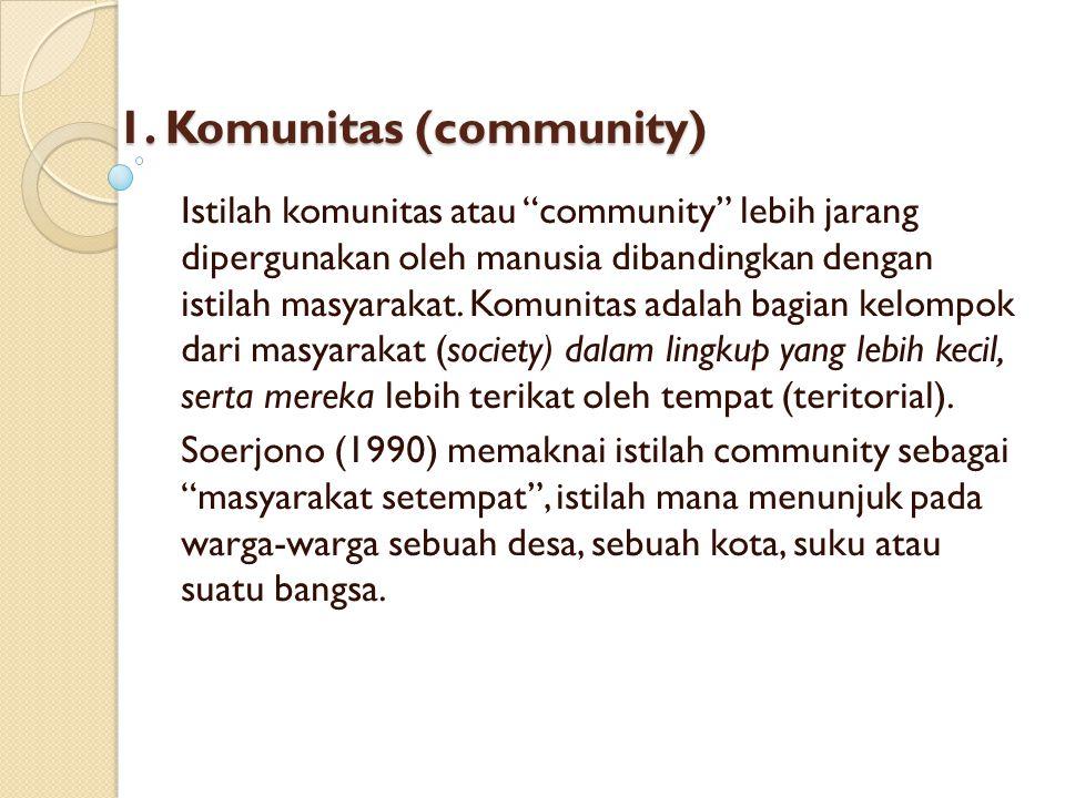 1. Komunitas (community)