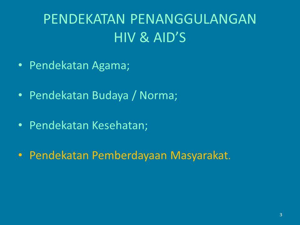 PENDEKATAN PENANGGULANGAN HIV & AID'S