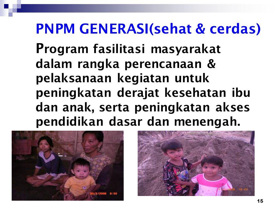 PNPM GENERASI(sehat & cerdas)