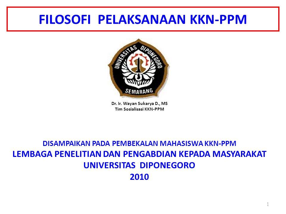 FILOSOFI PELAKSANAAN KKN-PPM