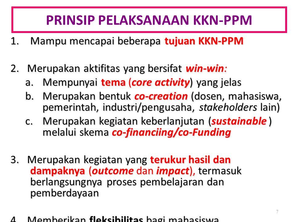 PRINSIP PELAKSANAAN KKN-PPM