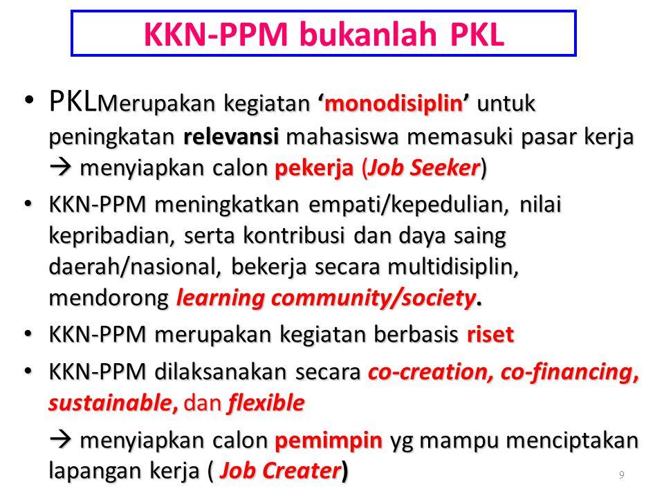 KKN-PPM bukanlah PKL