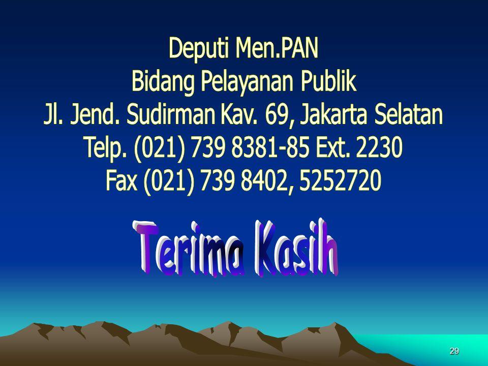 Bidang Pelayanan Publik Jl. Jend. Sudirman Kav. 69, Jakarta Selatan