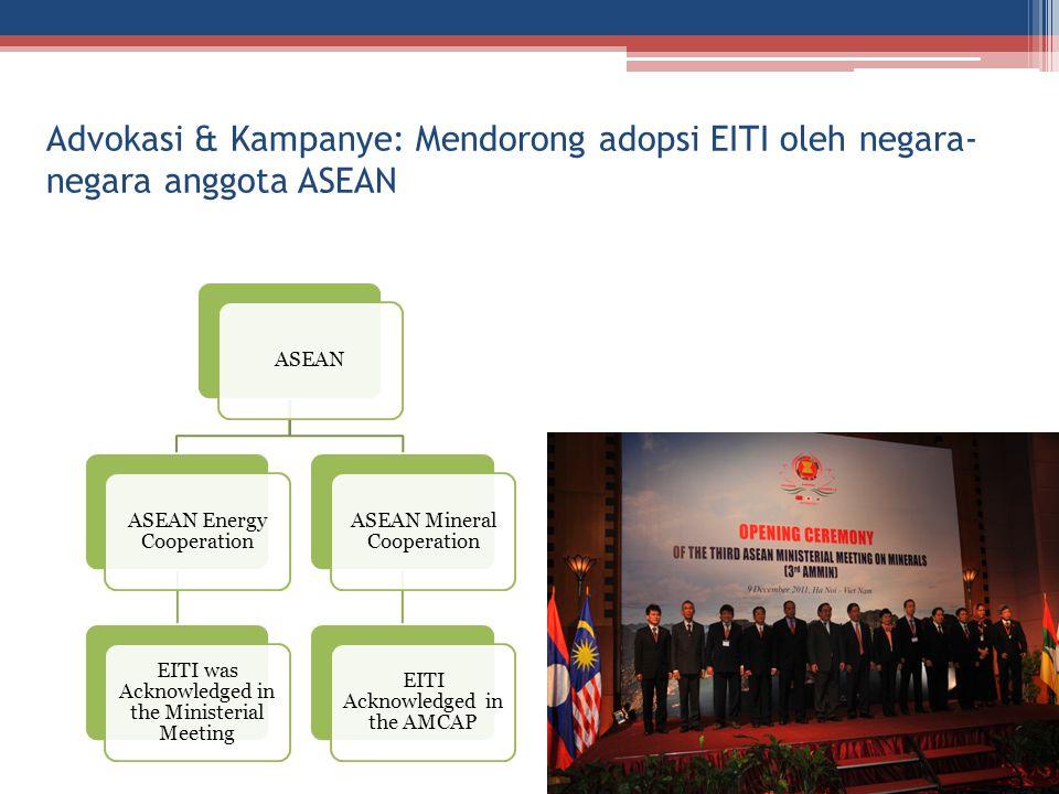 Advokasi & Kampanye: Mendorong adopsi EITI oleh negara-negara anggota ASEAN