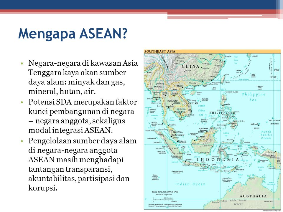 Mengapa ASEAN Negara-negara di kawasan Asia Tenggara kaya akan sumber daya alam: minyak dan gas, mineral, hutan, air.