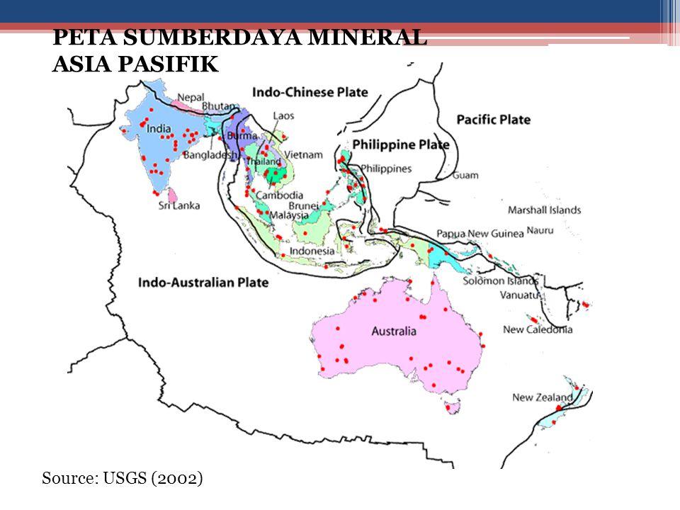 PETA SUMBERDAYA MINERAL ASIA PASIFIK