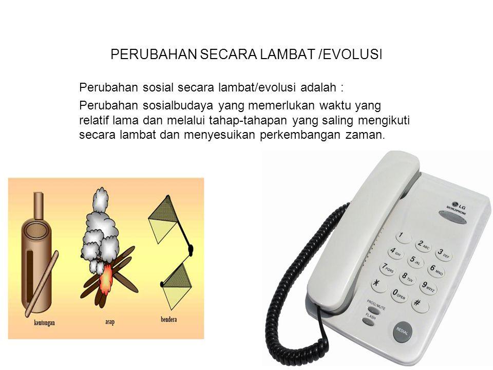 PERUBAHAN SECARA LAMBAT /EVOLUSI