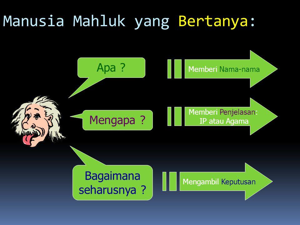 Manusia Mahluk yang Bertanya: