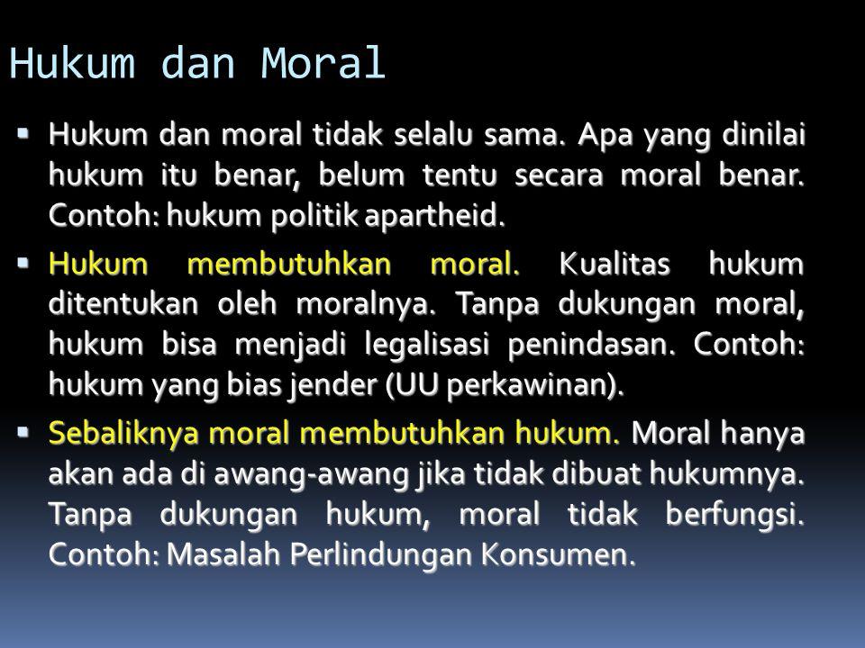 Hukum dan Moral