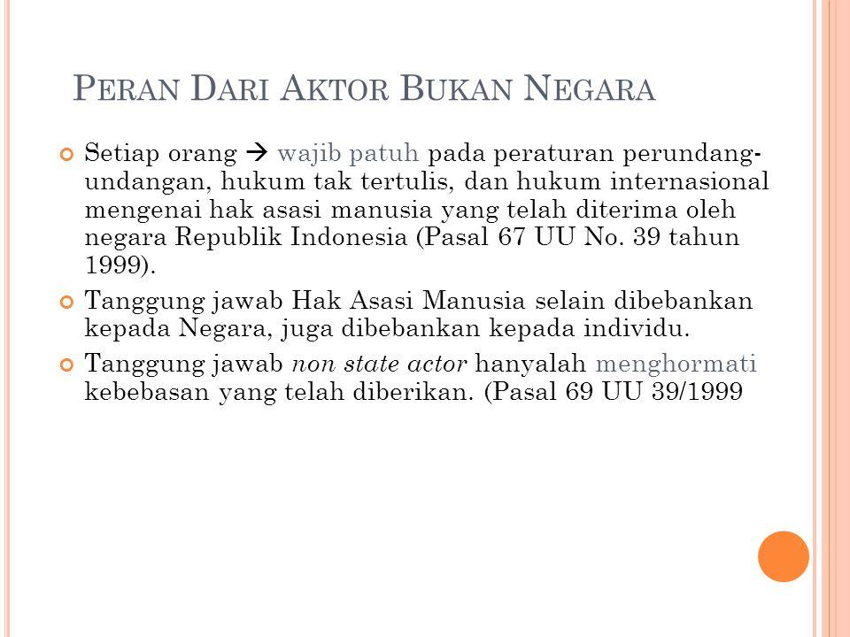Peran Dari Aktor Bukan Negara