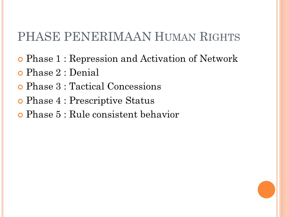 PHASE PENERIMAAN Human Rights