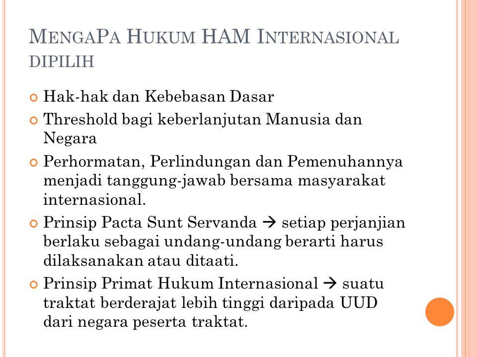 MengaPa Hukum HAM Internasional dipilih