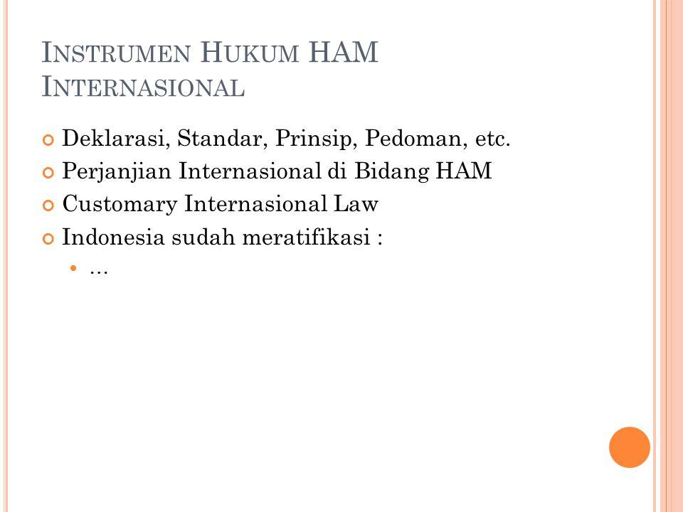 Instrumen Hukum HAM Internasional
