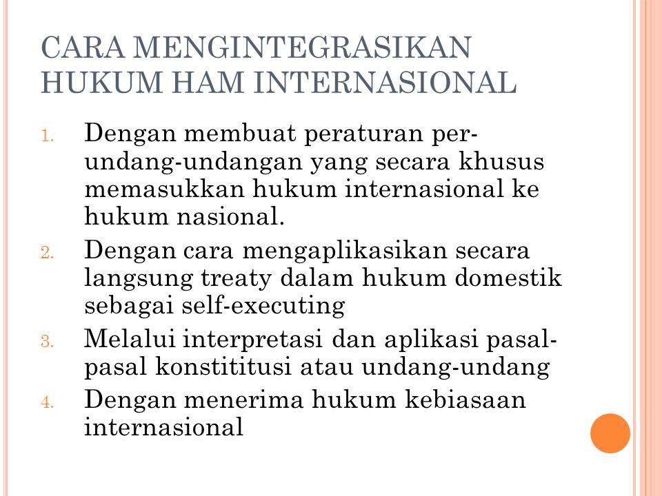 CARA MENGINTEGRASIKAN HUKUM HAM INTERNASIONAL