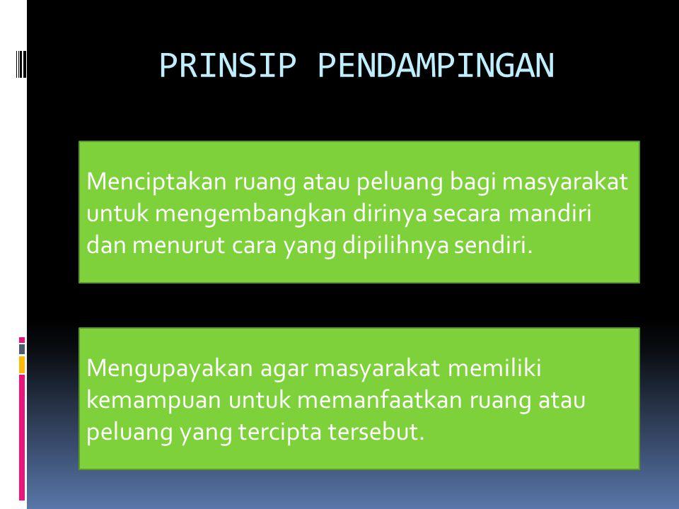 PRINSIP PENDAMPINGAN
