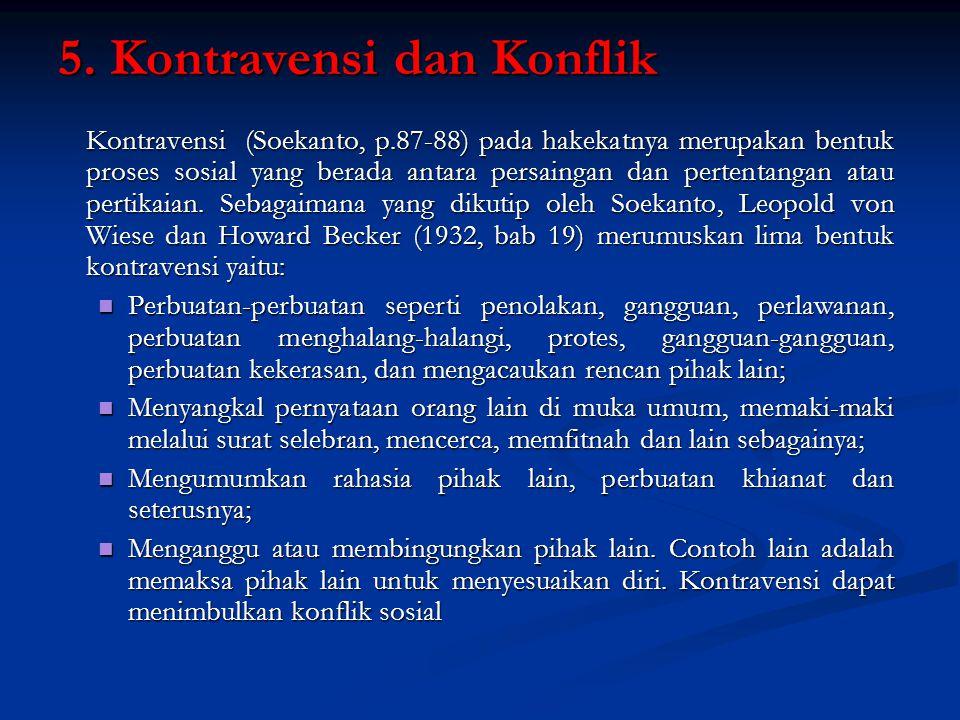 5. Kontravensi dan Konflik