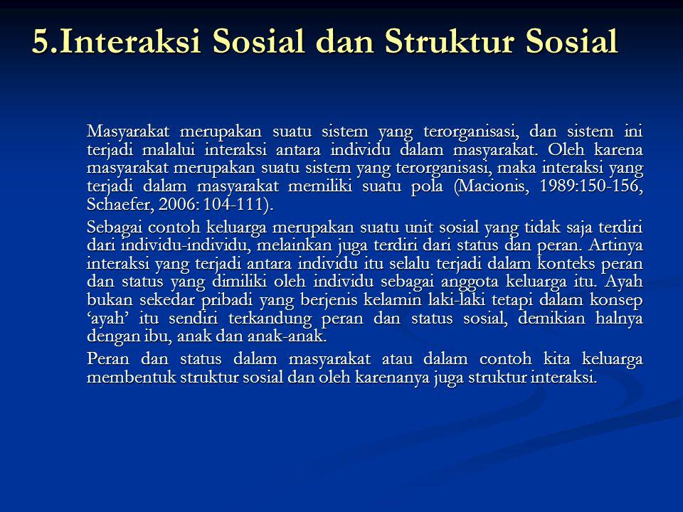 5.Interaksi Sosial dan Struktur Sosial